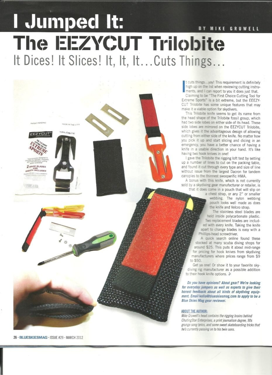 BLUE SKIES MAGAZINE REVIEW OF EEZYCUT